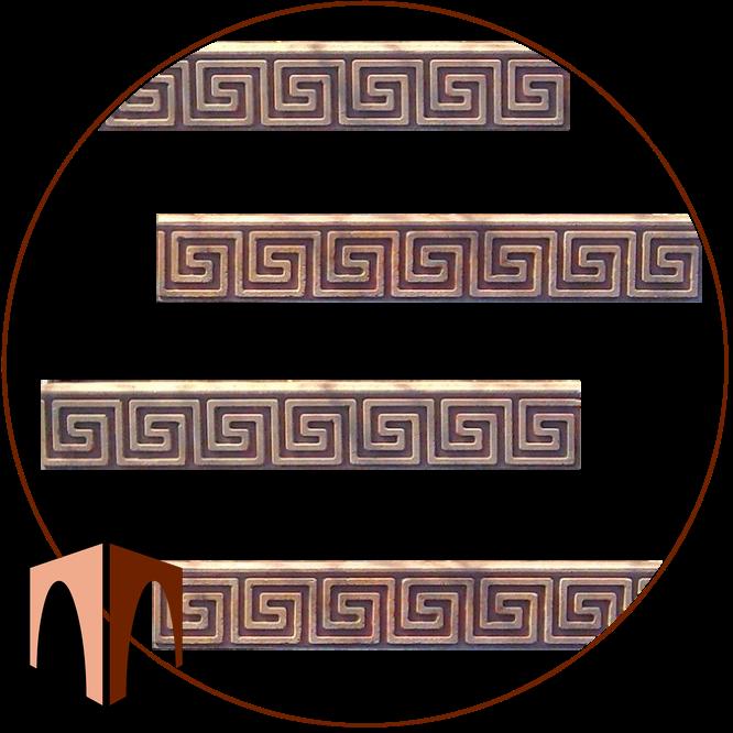 Искусственный камень фриз Миандр прямой плинтус
