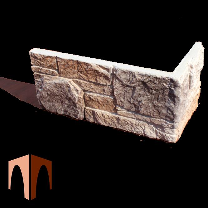гипсовый камень Сланец Аппалачи от производителя наружный угловой элемент