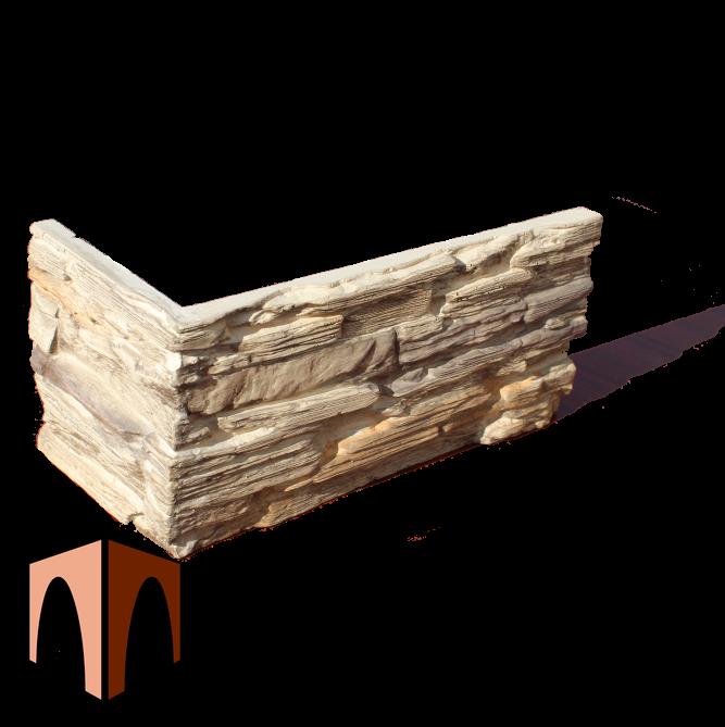 гипсовый камень Сланец Саянский от производителя наружный угловой элемент